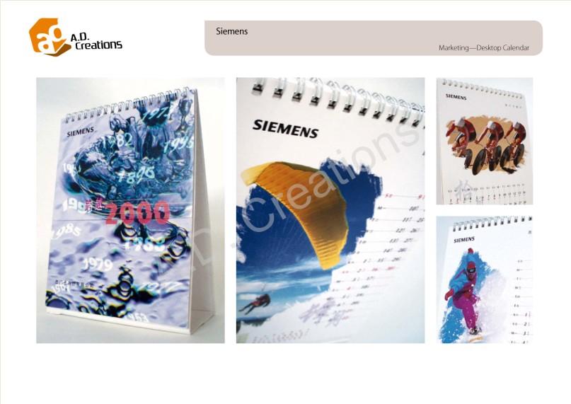 A.D. Creations Siemens Marketing-Desktop Calendar SMEMENS SIEMENS SIEMENS Cheatons a 9979 SIEMENS 53 21 M 45,Text,Font,Organism,Graphic design,