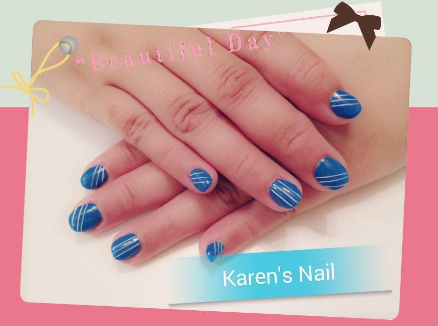 Karen's Nail,blue,nail,finger,nail care,hand