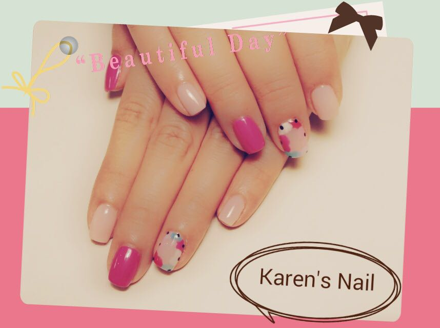 a u Karen's Nail,nail,finger,pink,nail care,manicure