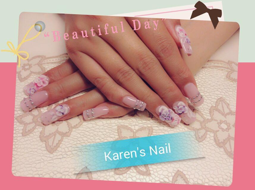 e a utii u Karen's Nail,nail,finger,pink,hand,nail care