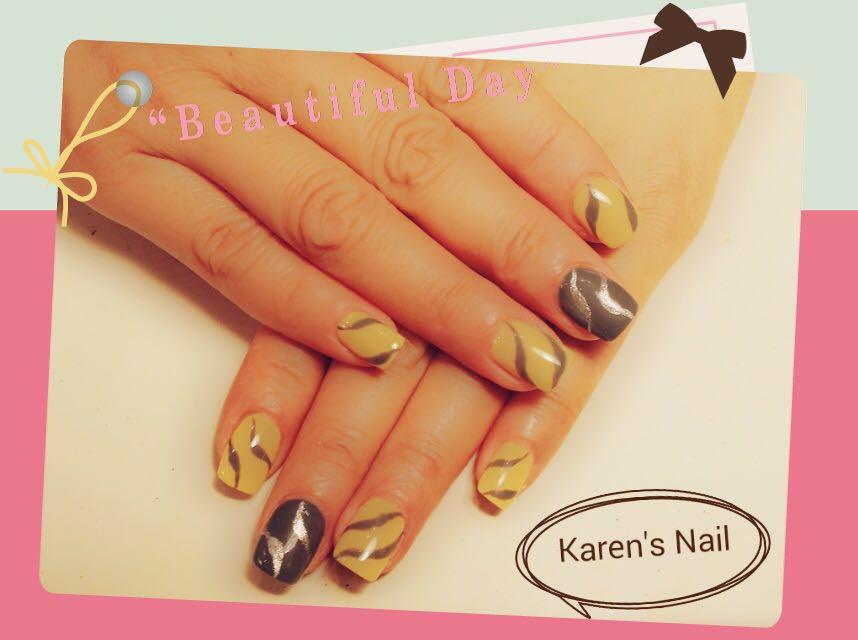 BeautifulD Karen's Nail,nail,finger,hand,orange,manicure