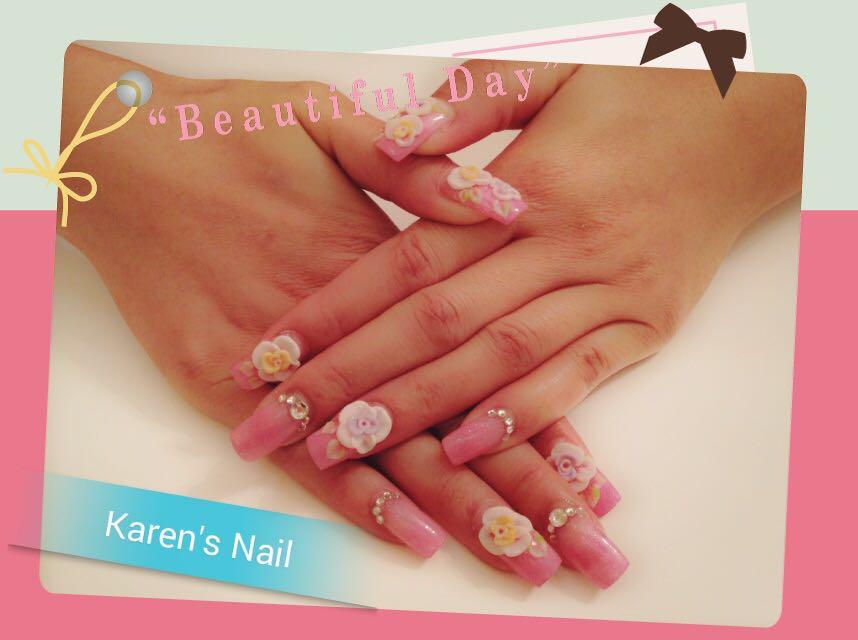 Karen's Nail,nail,finger,pink,hand,manicure