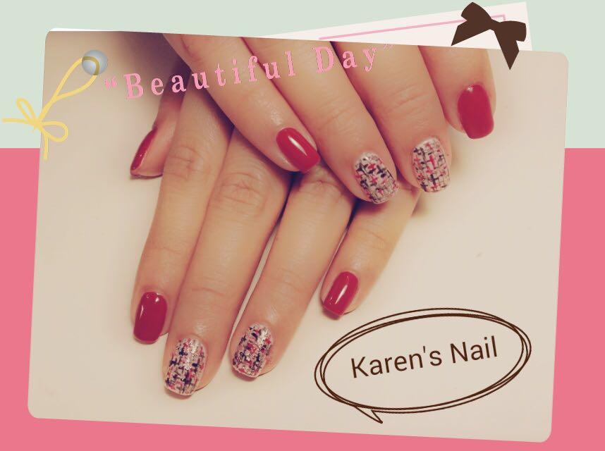 e a u Karen's Nail,nail,finger,pink,nail care,hand