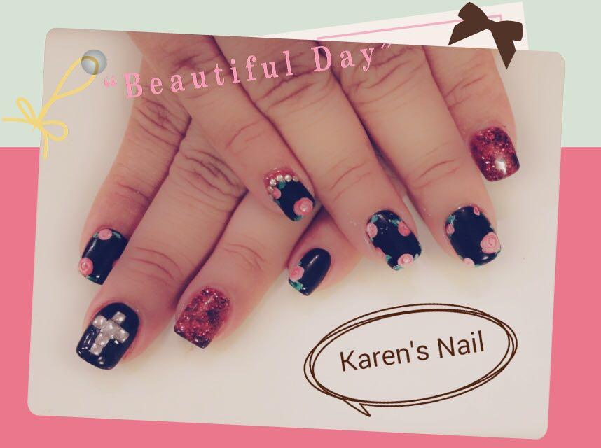 Beautiful Karen's Nail,nail,finger,hand,purple,nail care