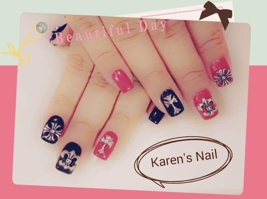 Karen's Nail,nail,finger,pink,hand,nail care