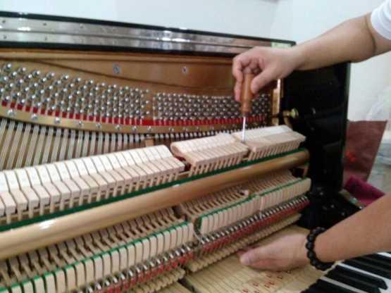 調整弦槌擊弦距離及聯動桿頂柱空隙的調節.琴鍵個別深度的調節.琴鍵的左右鬆緊及自由上下蹺動的之節.調節鈕和檔杔木的調節.制音器和右踏板的調節