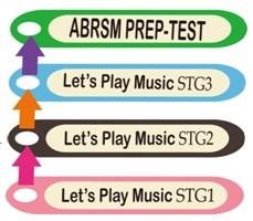 ABRSM PREP.TEST Let's Play Music STG3 Let's Play Music STG2 Let's Play Music STG1,text,font,line,area,technology