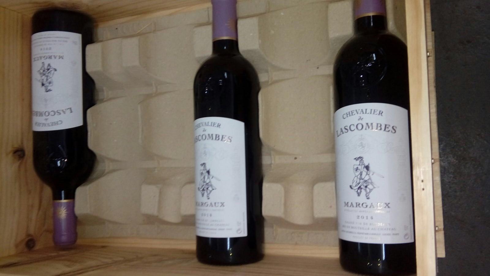 CHEVALIER SCOMBES de NoOSV1 ALIER OMBES MARGALX 2014,wine,bottle,alcoholic beverage,wine bottle,drink