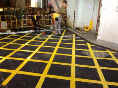 Floor,Yellow,Flooring,Tile,Line