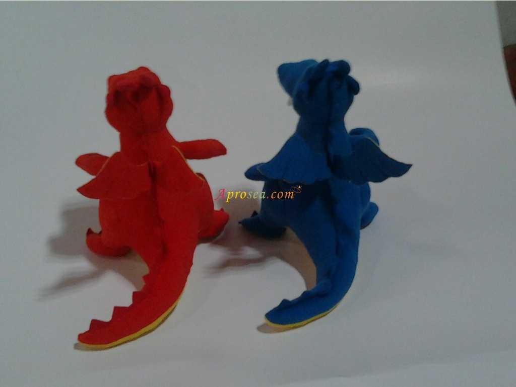 rosea. com,Blue,Red,Toy,Figurine,Animal figure