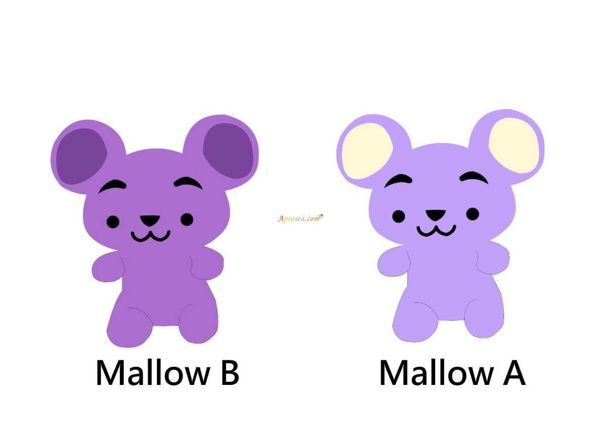Aprosea. com Mallow B Mallow A,Purple,Violet,Lilac,Teddy bear,Cartoon