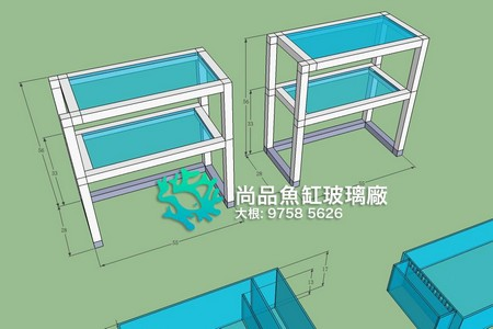 尚品魚缸玻璃廠 大根: 9758 5626,structure,furniture,line,product,design