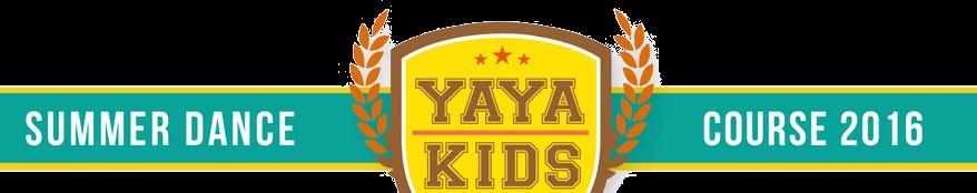 SUMMER DANCE YAYA KIDS COURSE 2016,yellow,text,product,logo,font