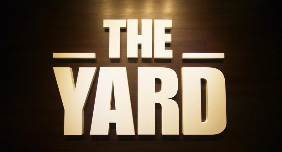 -THE- YARD,text,lighting,font,logo,
