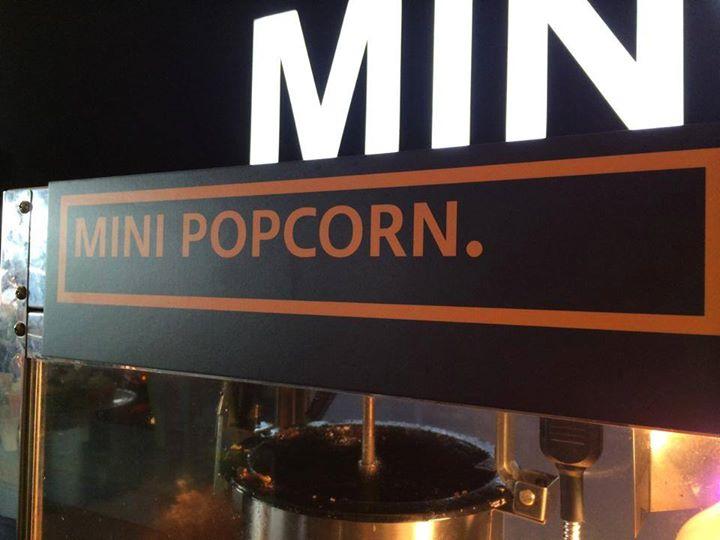 MINI POPCORN.,signage,