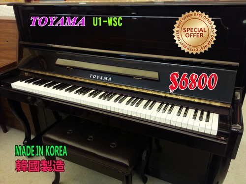 BEST OF TOYAMA U1-WSC SPECIAL) OFFER $6800 TOYAMA MADE IN KOREA 韓國製造 Di,musical instrument,piano,keyboard,technology,player piano