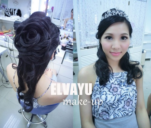 ELWAYU make-,hair,fashion accessory,hairstyle,hair accessory,black hair