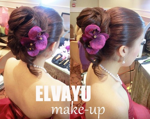 ELVAYU make up,hair,purple,hairstyle,flower,bride