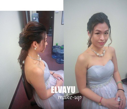 ELVAYU e-u,bride,hairstyle,gown,fashion accessory,shoulder