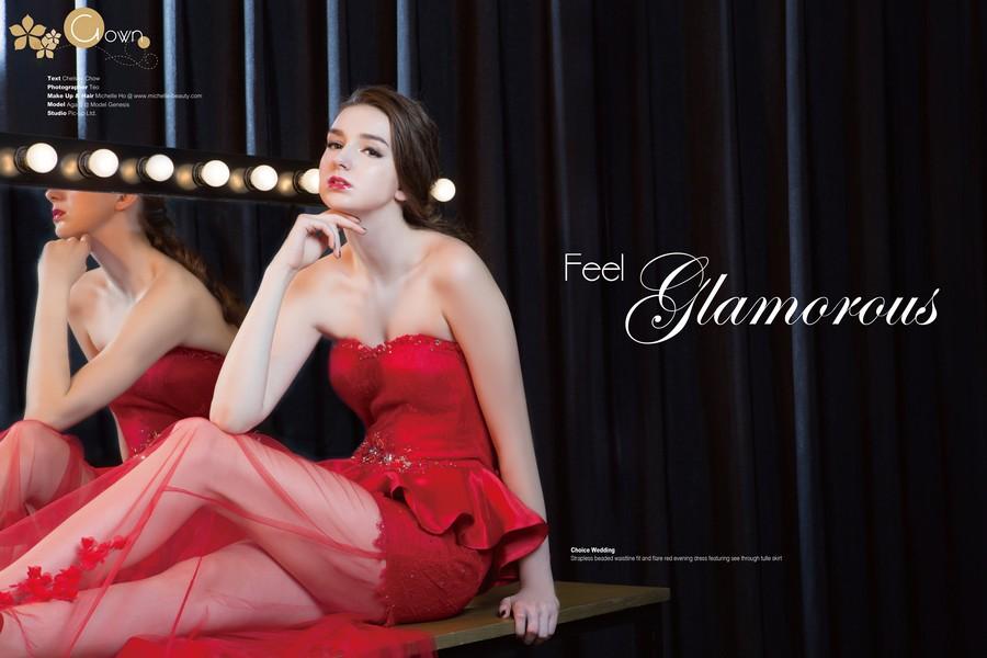 紅色晚裝短裙