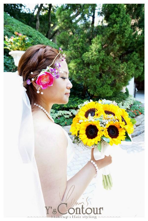 Ysontour akeup Hair styling,flower,yellow,flower arranging,bride,flower bouquet