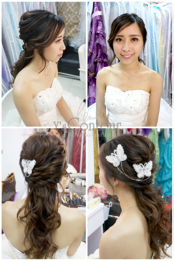 hair,bride,hairstyle,hair accessory,gown
