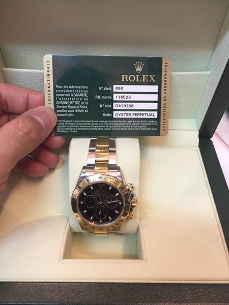 ROLEX 116523 G419288 OYSTER PERPETUAL TRE et le Sarvice Mondial Rolex,watch,