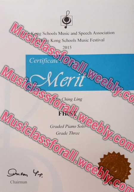 Musiclassfo g Schools Music and Speech Association Kong Schools Music Fesival 2015 Certificate ly.co usiclass forall.w Ching Ling eebly.com FI Musiclass Piano S Grade Three Graded Piano Sol forall.weebly.com Chairman,text,font,