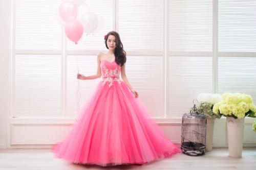 gown,pink,dress,cocktail dress,shoulder